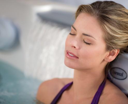 Test soaking hot tubs